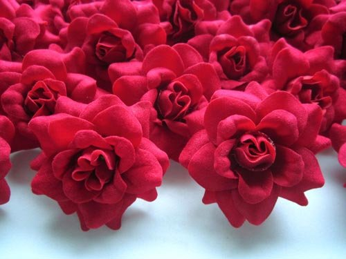 100 Silk Red Roses Flower Head 1 75 Quot Artificial Flowers Heads Fabric Floral Supplies