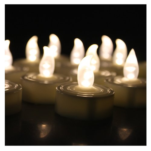 Agptek 100 Warm White Tea Light Candles Wedding Party Flameless Candle Light Home Decoration Shop