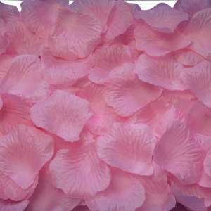 AutoM 1000 PCS Fabric Silk Flower Rose Petals Wedding Party Decoration Table Confetti (Pink) (1, Pink)