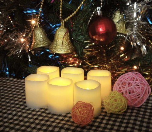 Festival Delights Battery Operated Candles, 1.5×1.75 inch, Set of 6