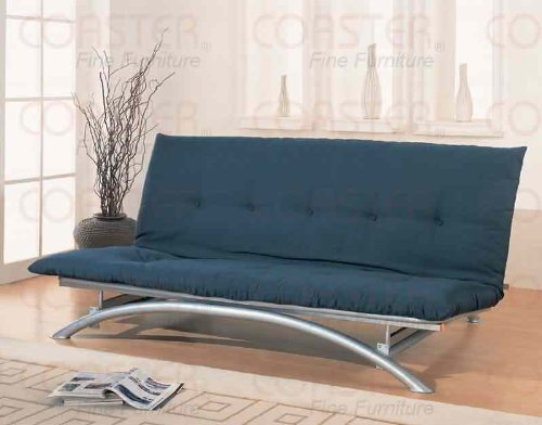 Coaster Home Furnishings Armless Futon Frame Silver