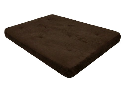 DHP 6-inch Coil Futon Couch Mattress with CertiPUR-US certified foam, Full Size – Chocolate