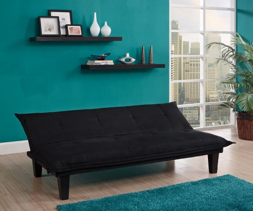 dhp lodge convertible futon couch bed with microfiber upholstery and wood legs  u2013 black dhp lodge convertible futon couch bed with microfiber upholstery      rh   homedecorit