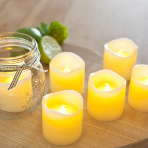 Vont Flameless LED Candles, Flickering, Battery Powered, Real Wax, Realistic Decor Unscented, 6 Pack, Yellow Light