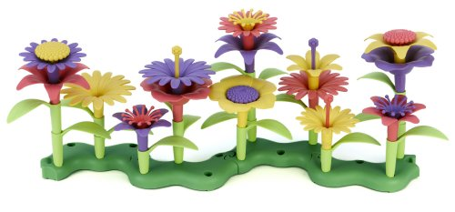 Green Toys Build-a-Bouquet Floral Arrangement Playset – BPA Free, Phthalates Free, Creative Play Toys for Gross Motors, Fine Motor Skill Development. Toys and Games