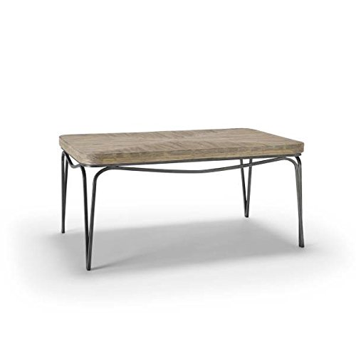 Homeware Bingham Distressed Wood Coffee Table With Aged Silver Finish Home Decoration Shop