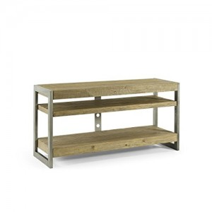 Homeware  Jude Driftwood Media Stand with Aged Silver Finish