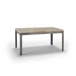 Homeware  Sawyer Travertine Coffee Tables with Aged Silver Finish