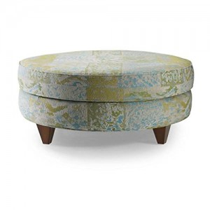 Homeware  Serena Ottoman with Espresso Finish, Cousteau