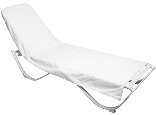 Luxury Hotel & Spa Towel Turkish Cotton Chair Lounge Cover (White, Hotel-Style)