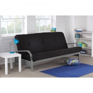Mainstay.. Metal Arm Futon with Mattress (Black)