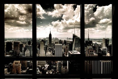 New York Window Poster Art Print