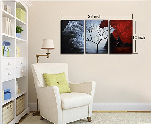 Santin Art - Modern Abstract Painting Wall Decor Landscape ...