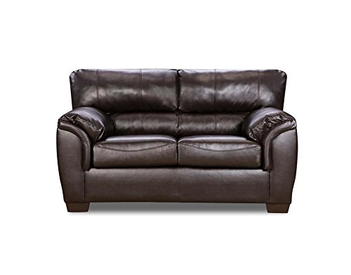 Lane Home Furnishings 1797-02 London Walnut Bonded Leather Loveseat