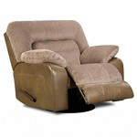 Simmons Upholstery 50310-16 Tonto Taupe Swivel Recliner