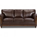Simmons Upholstery 8001-03 San Diego Coffee Bonded Leather Sofa