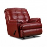 Simmons Upholstery 9569-19 Soho Cardinal Bonded Leather Rocker Recliner