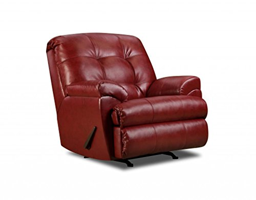 Simmons Upholstery Bonded Leather Rocker Recliner