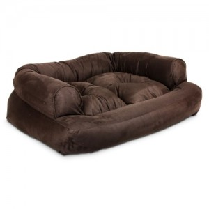 Snoozer Overstuffed Luxury Pet Sofa, X-Large, Hot Fudge
