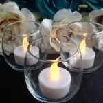 12 Flameless Battery Operated Tealight Candles. These Are Great for Wedding Decorations, Events, Banquets, or Any Type of Party. Can Be Used in Centerpieces, Floral Displays, or Votive Holders. ON SALE!!!!