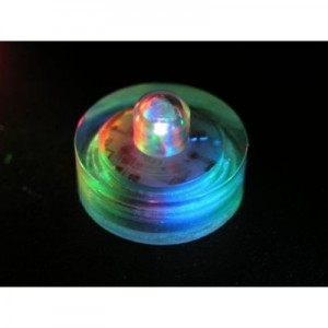 Lily's Home Submersible Battery LED Everlasting Tealights Floralyte, Color Changing with 7 Rainbow Colors. Great for Wedding Centerpiece, Christmas, Thanksgiving, Party Lights. Set of 10