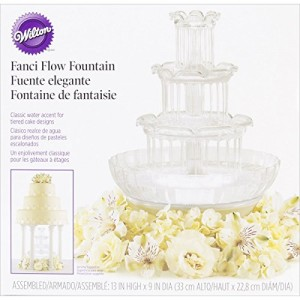 Wilton Fanci Flow Tabletop Fountain for Weddings, Birthdays, Holidays and any Celebration where Friends and Family Gather Togethers, Clear