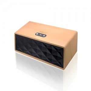 Wireless Bluetooth Speaker Wooden Portable Heavy Bass 3.5mm port