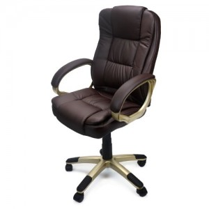 XtremepowerUS PU Leather Executive Office Desk Task Computer Chair boss Executive luxury Chair Seat