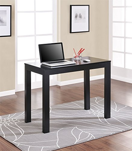 Altra Parsons Desk With Drawer, Black