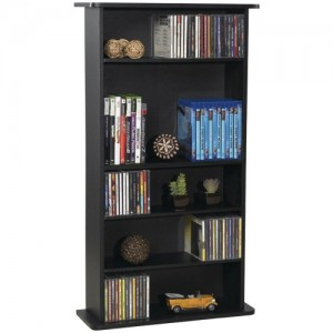 Atlantic 37935726 RA1711 Drawbridge Cd &ampamp DVD Multimedia Cabinet, 36″ X 19″ X 7″ Black