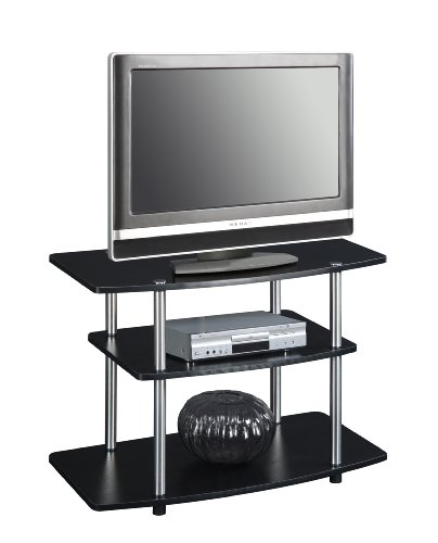 Convenience Concepts Designs2go 3 Tier Tv Stand For Flat Panel Television Up To 32 Inch Or 80