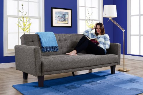 dhp     dhp sienna sofa sleeper tufted linen upholstery with tapered      rh   homedecorit