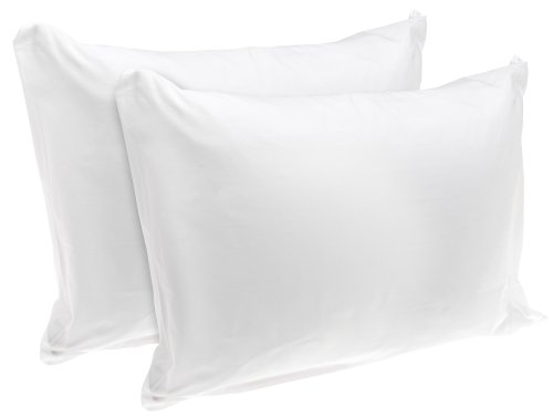 American Textile Rest Right 100% Cotton Zippered Pillow Protectors, Set of 2 – Zippered Pillow Covers Extend Pillow Life, Keeping Pillows Fresh and Clean, Standard Sized