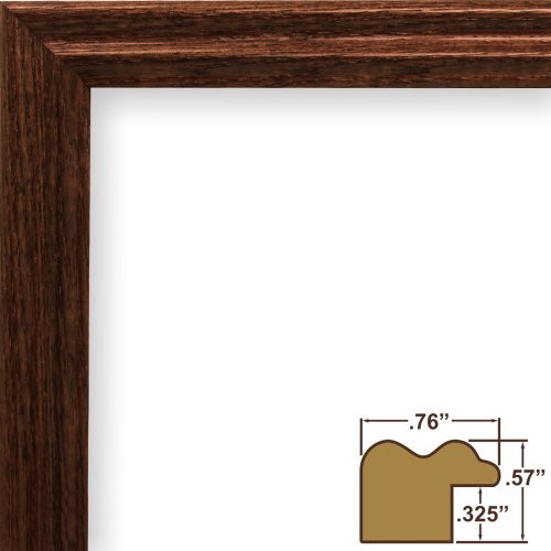 Craig Framess 200ASHBK 0.75-Inch Wide Picture/Poster Frame with Wood ...
