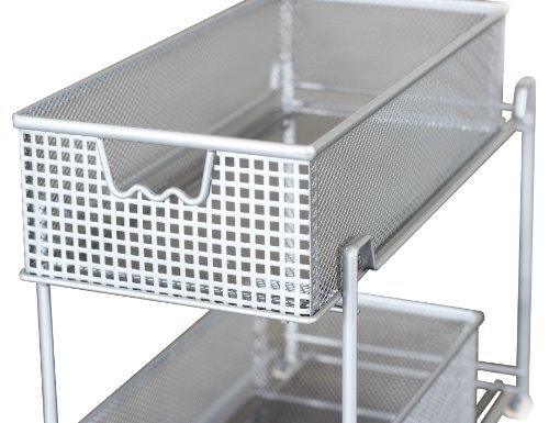 DecoBros 2 Tier Mesh Sliding Cabinet Basket Organizer Drawer ...