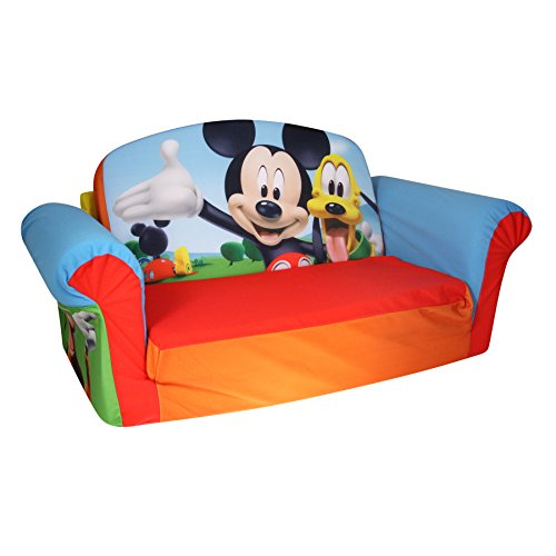 Marshmallow Furniture Childrenu0027s Upholstered 2 In 1 Flip Open Sofa, Disney  Mickey Mouse Club House, By Spin Master
