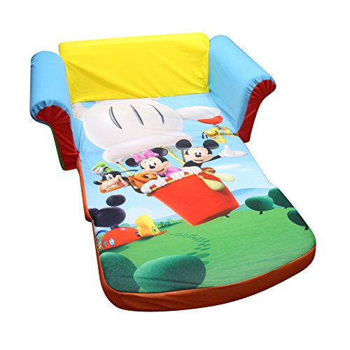 Elegant Marshmallow Furniture Childrenu0027s Upholstered 2 In 1 Flip Open Sofa, Disney  Mickey Mouse Club House, By Spin Master