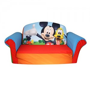 Marshmallow Furniture, Children's 2 in 1 Flip Open Foam Sofa, Disney Mickey Mouse Club House Spin Master