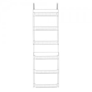 Trademark Global Overdoor Storage Basket Rack (5′)