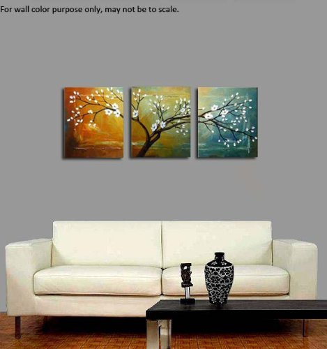 Framed Canvas Wall Decor : Wieco art full blossom hand painted oil paintings