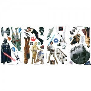 York Wallcoverings RMK1586SCS RoomMates Star Wars Classic Peel & Stick Wall Deca,