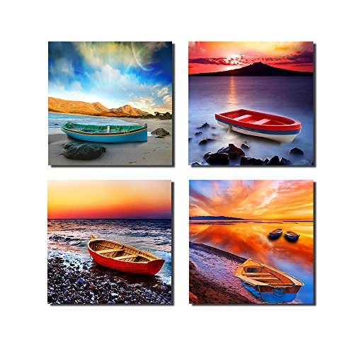 Phoenix Decor GF216Canvas Print, Stretched and Framed, 4 Panels Canvas Art The Extensive Modern Canvas Wall Art for Home Decoration
