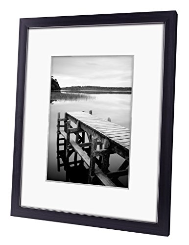 8x10 Black Picture Frame Made To Display Pictures 5x7