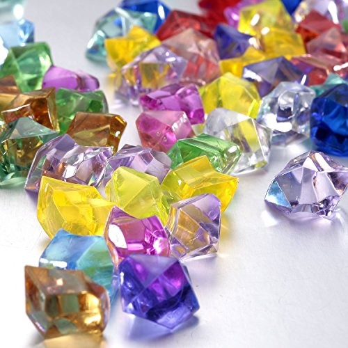 A&S Creavention Translucent Clear Acrylic Ice Rocks assorted Colors