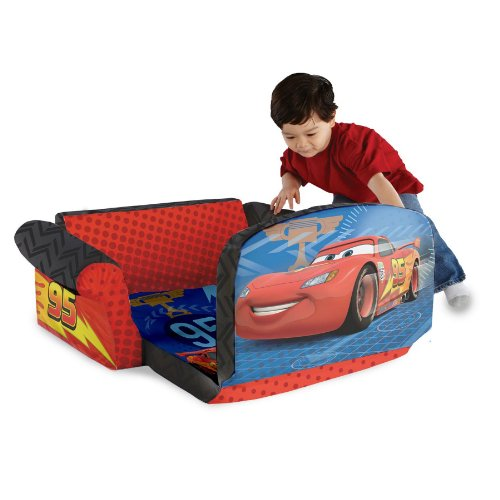 Marshmallow Furniture Childrenu0027s 2 In 1 Flip Open Foam Sofa, Disney/Pixar  Disney Pixar Cars 2, By Spin Master