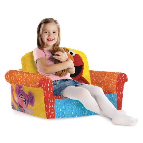 Marshmallow Furniture Childrenu0027s 2 In 1 Flip Open Foam Sofa, Sesame  Streetu0027s Elmo/Sesame, By Spin Master