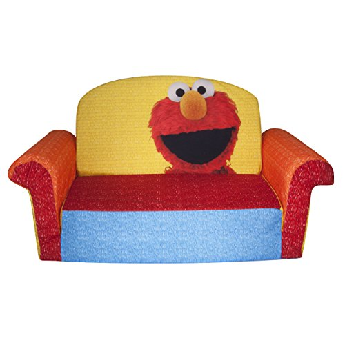 Marshmallow Furniture Children S 2 In 1 Flip Open Foam Sofa Sesame Street Elmo By Spin Master