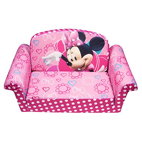 Marshmallow Furniture Children's 2 in 1 Flip Open Foam Sofa, Disney Minnie's Bow-tique, by Spin Master