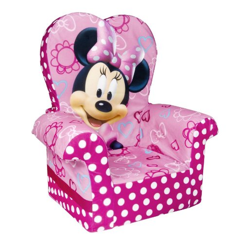 Marshmallow Furniture Children's Foam High Back Chair, Disney's Minnie Mouse, by Spin Master