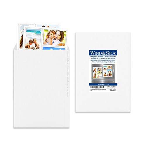 Wind & Sea Magnetic Picture Collage Frame for Refrigerator, 2-Pack ...